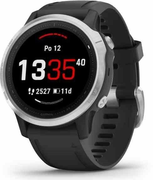 Uhren Garmin Garmin fenix6S Glass Silver/Black Band