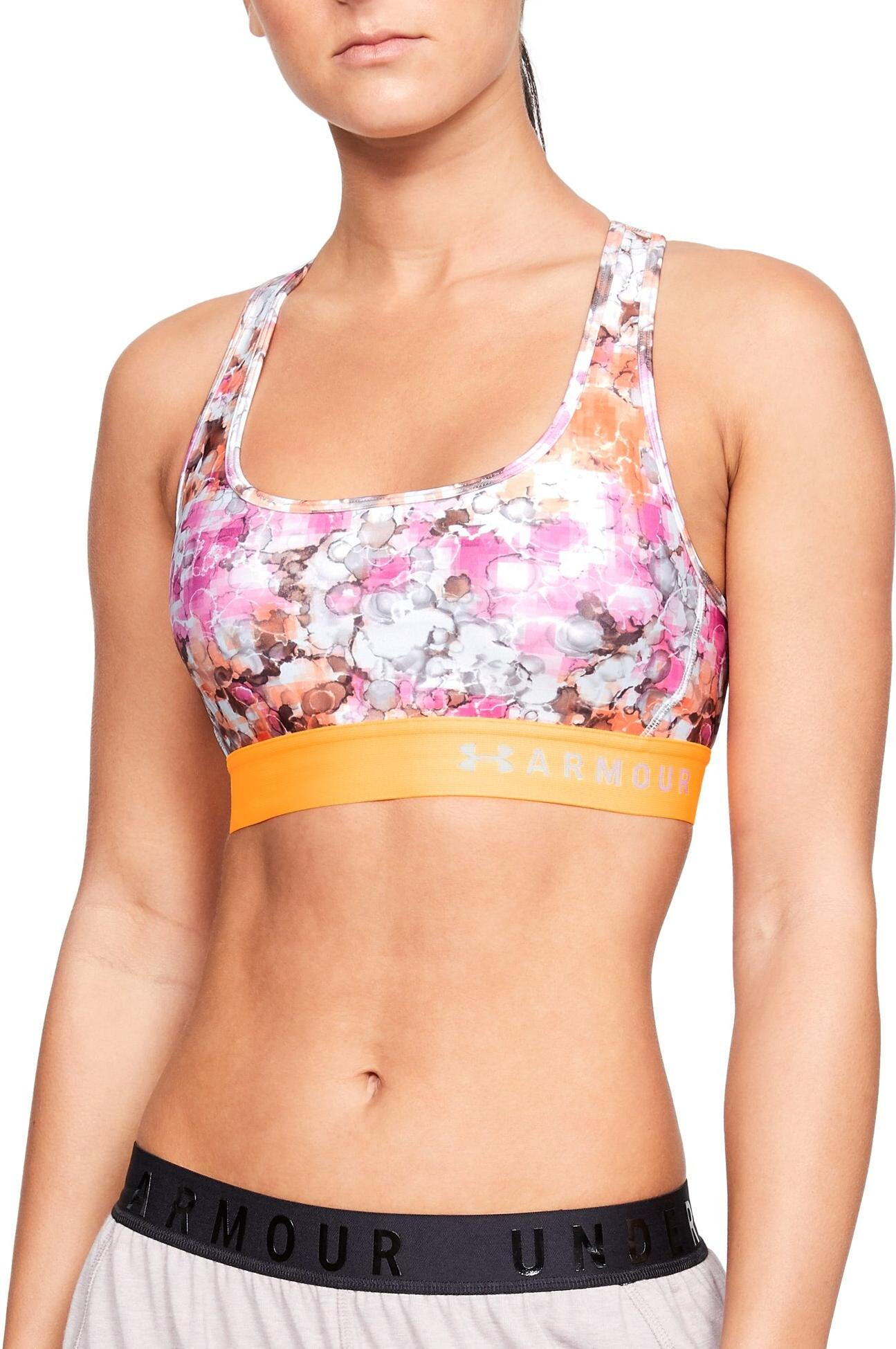 BH Under Armour Armour Mid Crossback Printed Bra