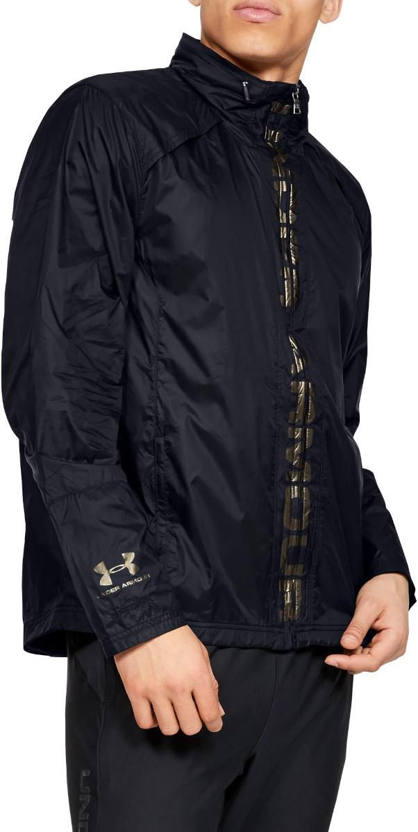 Kapuzenjacke Under Armour Accelerate Pro Storm Shell-BLK