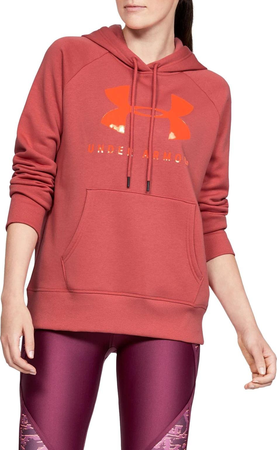 Hoodie Under Armour RIVAL FLEECE SPORTSTYLE GRAPHIC HOODIE